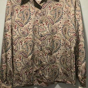 Vintage Notations long sleeve button down shirt size 10